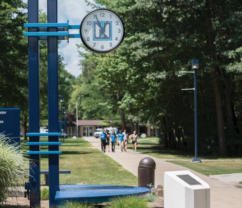 Northwood University mallwalk clock