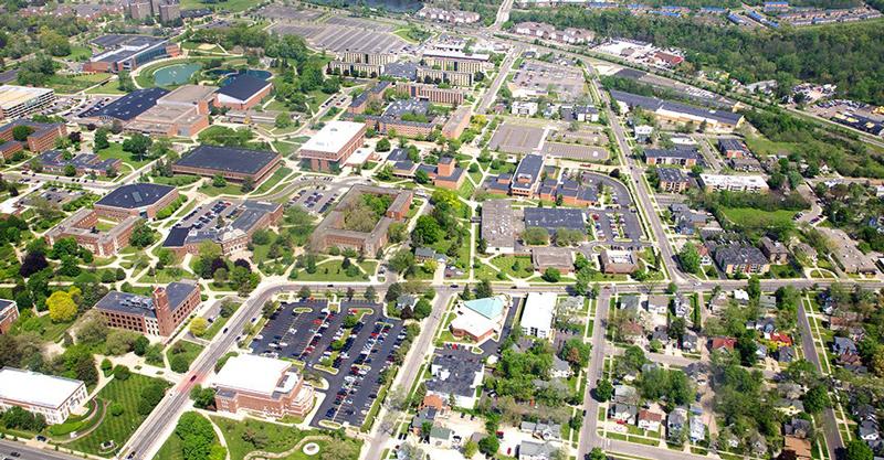 Eastern Michigan University birds eye view